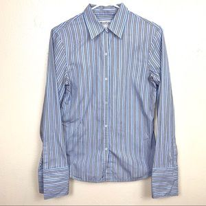 Brooks brothers Italy striped blue size 4